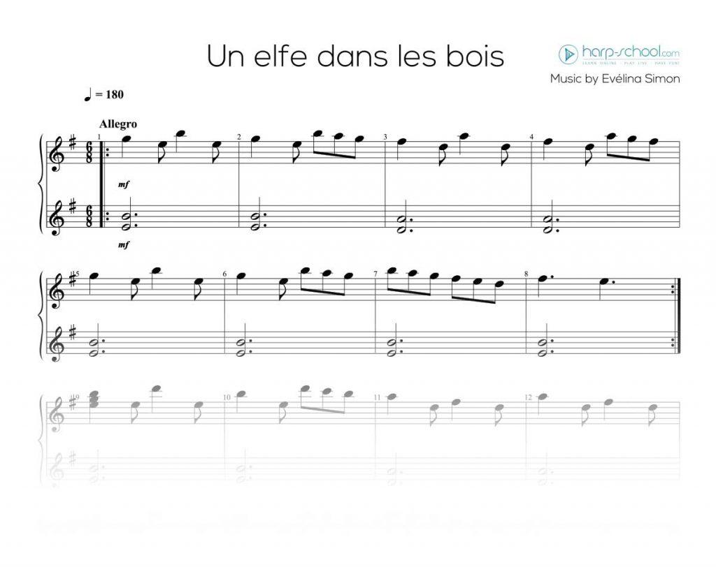 Elfe in the woods harp school - Un matin dans les bois ...