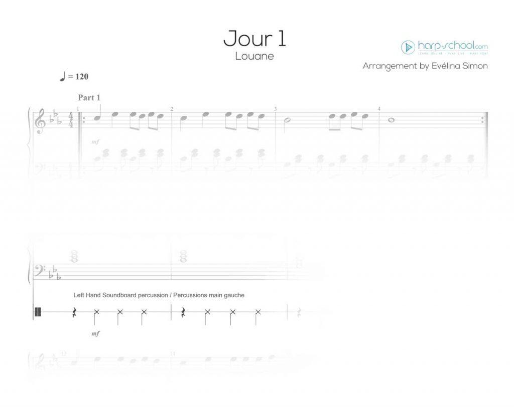 Download sheet music on harp-school.com / télécharger des partitions pour harpe