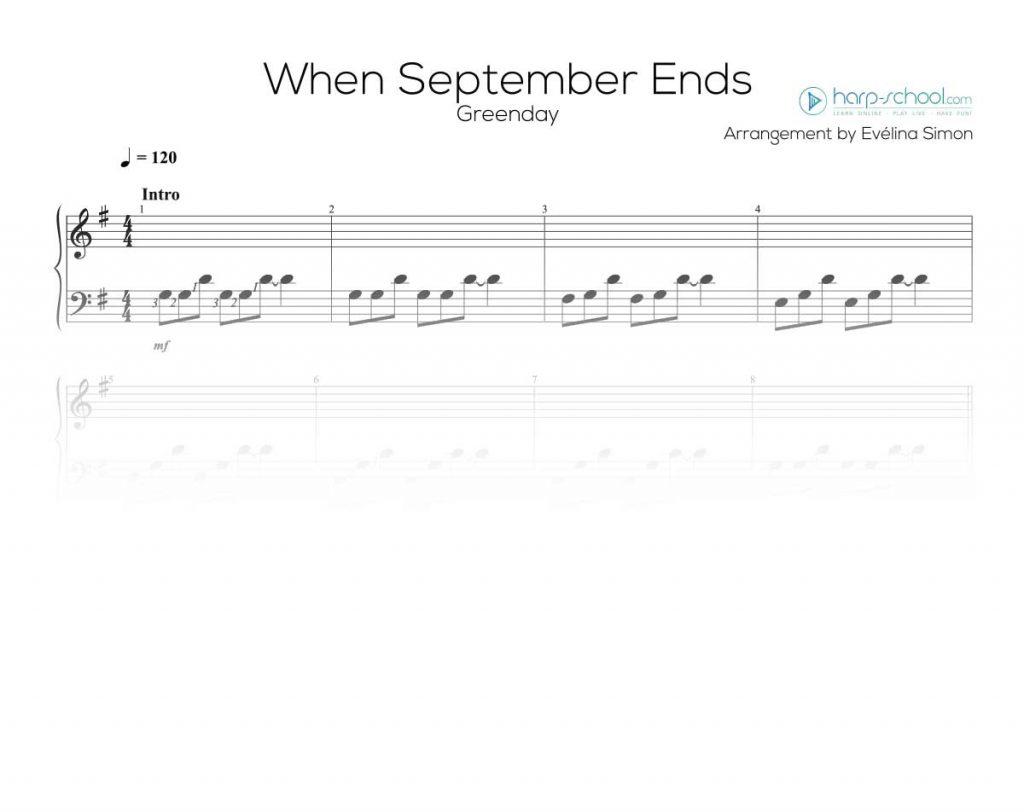 extrait partition facile pour harpe